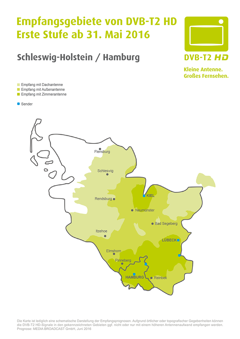 dvb t schleswig holstein karte DVB T2 HD Regionen in Deutschland   efe forum